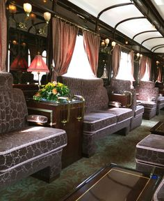 ♔ Piano bar Orient Express By Train, Train Car, Train Tracks, Train Rides, Travel Images, Travel Pictures, Simplon Orient Express, Piano Bar, Long Flights