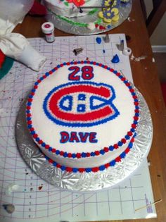 Montreal Canadiens Cake Birthday Themes For Adults, Birthday Wishes For Kids, Birthday Cake For Husband, Birthday Ideas For Her, Birthday Surprise Boyfriend, Birthday Cakes For Men, Cakes For Boys, Birthday Cupcakes, 60 Birthday
