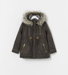 Image 1 of PARKA WITH DETACHABLE HOOD from Zara