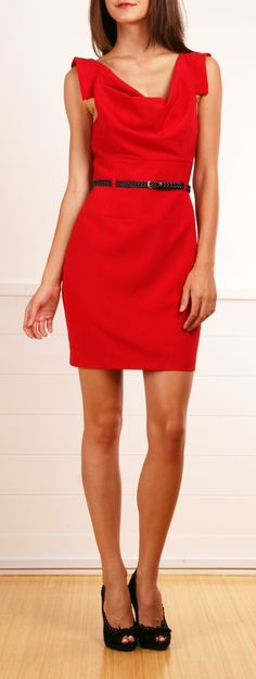 "Black Halo red ""Jackie O"" dress"