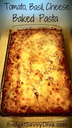 One of THE BEtter easy pasta dishes out there. On the table in 30 minutes. This recipe is a MUST Best Pasta Dishes, Food Dishes, Main Dishes, Baked Pasta Recipes, Baking Recipes, Cheese Recipes, Great Recipes, Dinner Recipes, Favorite Recipes