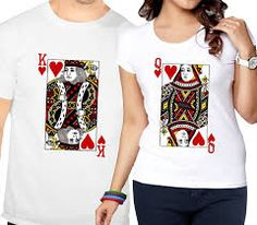 Ejebo Printed King & Queen Couple Round Neck T-Shirt Combo T-shirt Couple, Couple Tees, Couple Tshirts, Family Shirts, Half Sleeves, Types Of Sleeves, Matching Couple Outfits, Pattern Fashion, Neck T Shirt