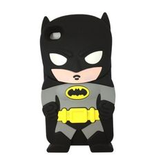 3D Black Batman Case Cover Skin for iPod Touch 5/4/4g/4th Generation