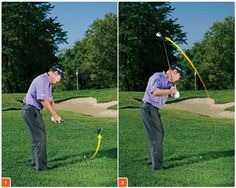 Addressing one of the hardest greenside shots in all of golf.