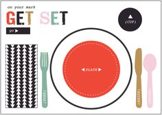 table setting printable. love this! // armommy.