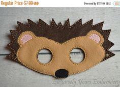 Hedgehog Children's Mask, Costume, Theater, Dress Up, Hallowen, Face Mask, Children's Pretend Play
