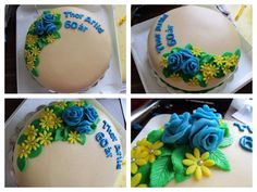 The cake I made for my dads 60th birthday this summer :-)