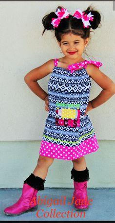 Boutique Kindergarten Rocks Toddler Girl Dress Abigail Jade Collection #Boutique #KindergartenSchoolEveryday