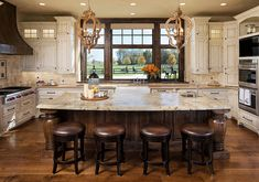 Granite Countertop Color. Neutral Granite Color for Kitchen Countertop. The central island is Hawaii granite and the perimeter countertops are Cambria in Dover. The granite has been honed and sealed, in lieu of a polished finish. #Granite #Countertop #Kitchen Kyle Hunt & Partners. Eskuche Design.