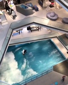 Can you imagine an indoor wave pool in your house? Can you imagine an indoor wave pool in your house? 🏄🏻♀️🏄🏽♂️ Tag your friends who would fall in love with this! The wave pool is positioned on the ground floor, of the L Surf Pool, Wave Pool, Indoor Swimming Pools, Swimming Pool Designs, Luxury Swimming Pools, Lap Pools, Backyard Pools, Pool Decks, Outdoor Pool