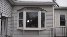 """Replacement bay window """"after"""" photo."""
