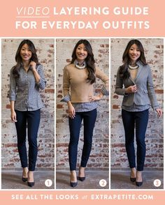 How to layer and style everyday work casual outfits