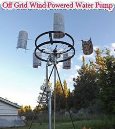 Off Grid Wind-Powered Water Pump