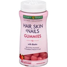 FREE Nature's Bounty Hair, Skin & Nails Gummies Sample! Hurry and grab a FREE Nature's Bounty Hair, Skin & Nails Gummies Sample! Hair Skin Nails Gummies, Hair Skin Nails Vitamins, Hair Vitamins, Natural Hair Care, Natural Hair Styles, Nail Growth, Luxury Hair, Healthy Nails, Healthy Skin