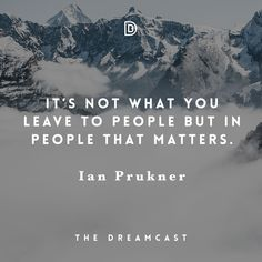 We're all in the people building business. No matter if we work a job, run a business or building a family. Share if you agree!  Make the time & listen to this podcast with Ian Prukner, I promise it will transform your perspective and give you hope in life! - http://danielbudzinski.com/podcast/ian-prukner/