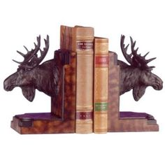 Moose Head Bookends
