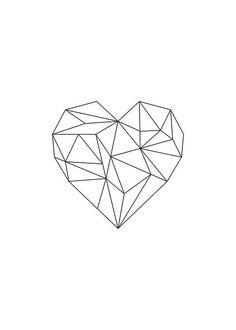 Geometric Poster, Geometric Shapes, Geometric Wall, Trendy Tattoos, Cool Tattoos, Heart Poster, Kids Poster, Poster Poster, Art Graphique
