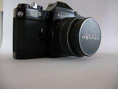 PENTAX HONEYWELL Es Film Camera with TAKUMAR Smc F1.4/50 Lens