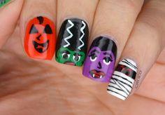 NAILS | Wet n Wild Halloween Monsters Nail Art