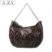 -ZA Azarさん、ヨーロッパやアメリカのレトロなチェーンの摩耗エッジ部族風餃子の毛皮の女性のショルダーバッグT10911