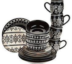 Cook's Essentials Savannah 16-piece Dinnerware Set