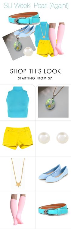 """""""Steven Universe Week: Pearl!"""" by nerdybirdy1224 ❤ liked on Polyvore featuring WearAll, Kavu, Accessorize and Minnie Grace"""