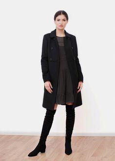 Milan wool coat black.