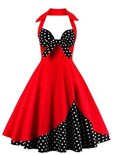 6ef492def4c7 Amazon.com: Adreamly Women's 1950s Audrey Hepburn Halter Vintage Floral  Print Cocktail Dress Beige Small: Clothing
