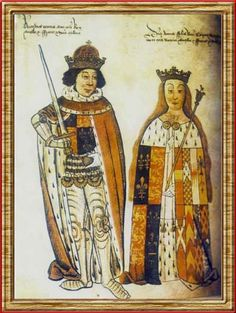 Richard III and his queen Anne Neville (daughter of the Kingmaker the Earl of Warwick)