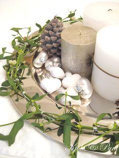 seidenfein 's Dekoblog: .... verflixte Adventsdeko & Mistelkranz : mistletoe - wreath