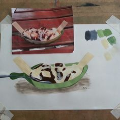Painting of ice cream - Acrylic