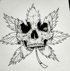60 New Ideas Drawing Skull Illustration Art Dark Art Drawings, Pencil Art Drawings, Drawing Sketches, Skull Drawings, Skull Tattoo Design, Tattoo Design Drawings, Skull Tattoo Flowers, Satanic Art, Libra Tattoo