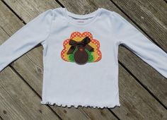 Girl's Toddlers Thanksgiving Turkey Shirt  personalized by Livanni