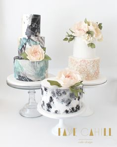 The new wedding cake trends for 2015 are all about standing out and making a bold statement with Australian cake experts naming hanging, naked and hand-painted cakes as the top sellers. Unique Cake Toppers, Unique Cakes, Wedding Cake Toppers, Wedding Cakes, Modern Cakes, Wedding Cake Decorations, Wedding Cake Designs, Decor Wedding, Gorgeous Cakes