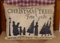 Freshly Cut Christmas Trees For Sale Country by oldetimegatherings, $9.95