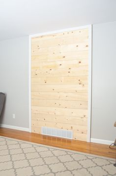 DIY Wood Plank (Shiplap) Accent Wall - The Golden Sycamore
