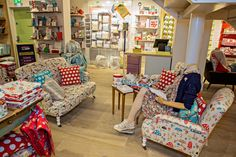 Grab a good book, a steaming mug of tea and take a seat. New, original, handmade furniture from Cath Kidston #180Piccadilly - all made in the UK.