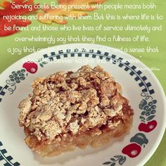 My Father's World: Serving My Father's World, Photo A Day, Apple Crisp, Icing, Breakfast, Food, Morning Coffee, Essen, Meals