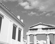 Roman Agora 🇬🇷🏛  .  .  .  .  #athens #greekstagram  #city #blackandwhite #thegreeceguide #ig_greece #travel_greece #travelgram Greece Pictures, Greece Travel, Athens, Roman, Greek, Clouds, City, Instagram Posts, Outdoor