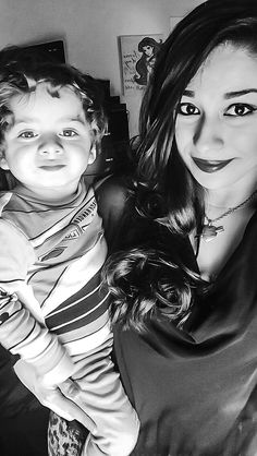 Mommy and baby selfies.