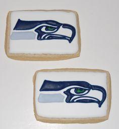 Seattle Seahawks Logo Sugar Cookies