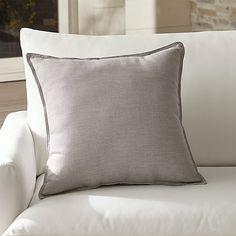 "Sunbrella ® Silver 20"" Sq. Outdoor Pillow.   Crate and Barrel"