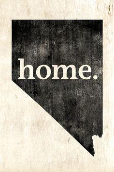 Nevada Home Poster Print - Keep Calm Collection
