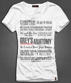 Camiseta Feminina Grey's Anatomy - Quotes