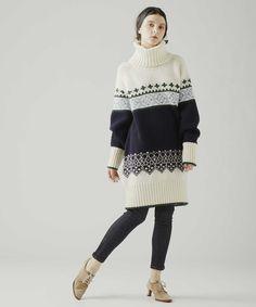 【HugMug 掲載】フェアアイル柄プルオーバーニット Pullover, Sweaters, Dresses, Fashion, Gowns, Moda, La Mode, Sweater, Dress