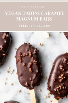 Vegan Treats, Vegan Foods, Vegan Snacks, Frozen Desserts, Summer Desserts, Vegan Dessert Recipes, Snack Recipes, Vegan Caramel, Ice Cream Pops