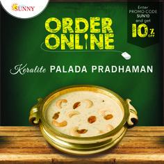 ORDER ONLINE & GET 10% OFF Website - www.hotelsunny.in For reservation:2522-5616/3549  #hotelsunny #tasteofmumbai #offer #keralafood #tasteofkerala #paladapradhaman #mumbai #mymumbai #foodie #sweets #yummy #mahashivratri2017 #homedelivery #fooddelivery #zomato #kerala #tastyfood #keralasweets #bandra #dadar #kurla #tasty