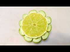 Simple And Easy Lime Button Flower - Beginners 65 By Mutita Art Of Fruit And…
