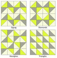 triangle block patterns