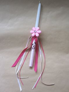 Sparkly Flower Collection Pink Easter Candle by LimaniDesigns, $15.00